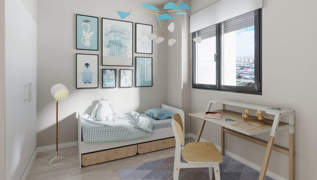 Habitación individual_Obra Nueva Hospitalet de Llobregat Barcelona