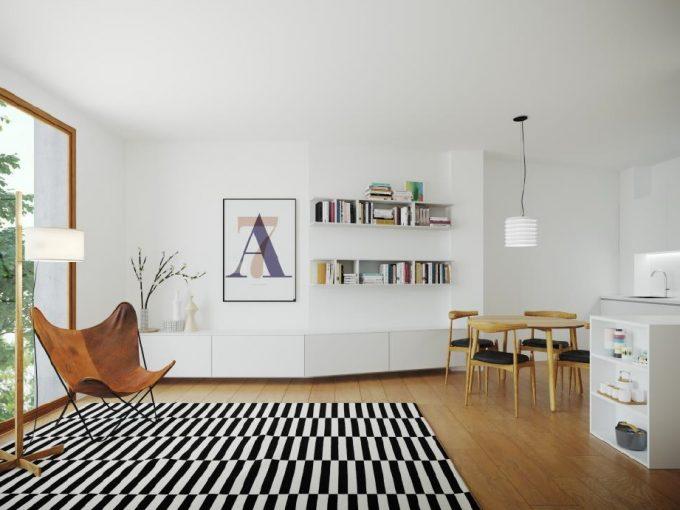 Pisos Venta BarcelonaSarria Sant Gervasi Salon apartamento 2