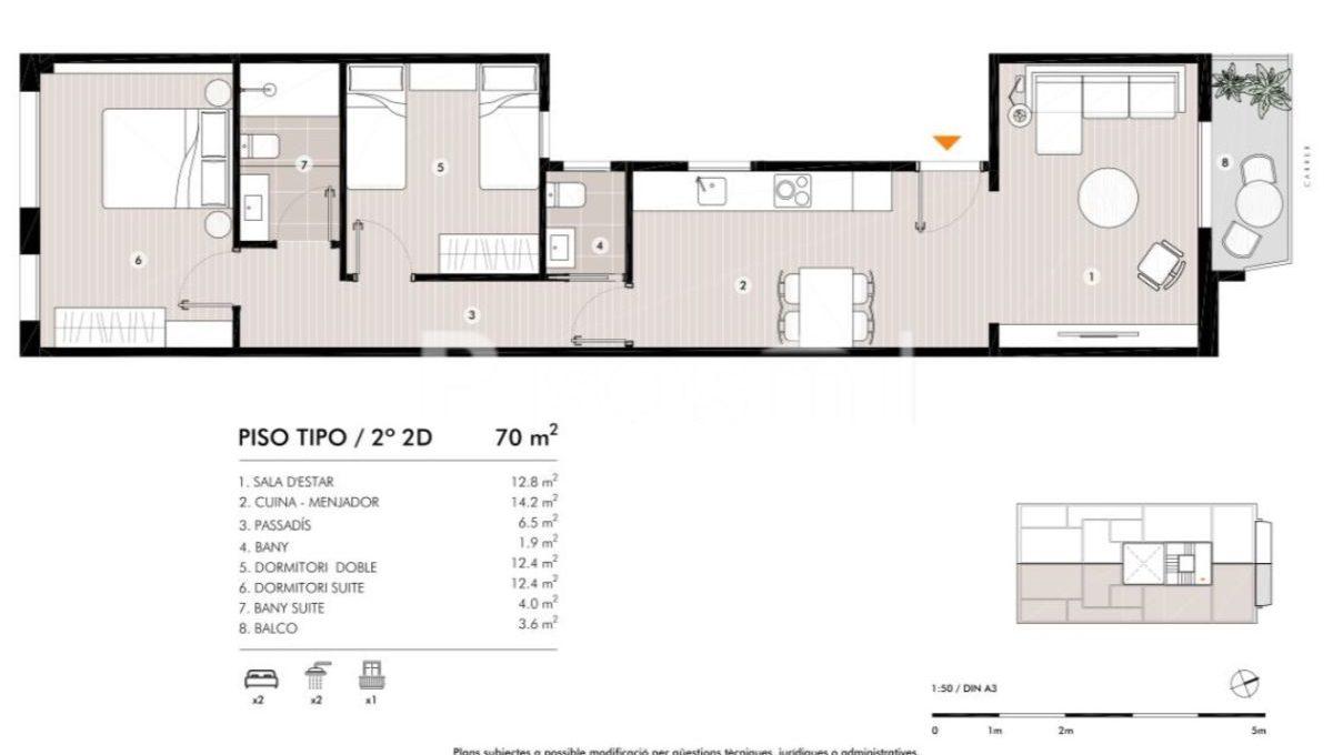 Obra Nueva Horta Plano Piso22