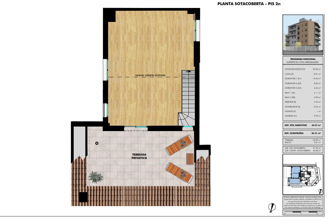 Dúplex 42 - plano planta ático - Vendido