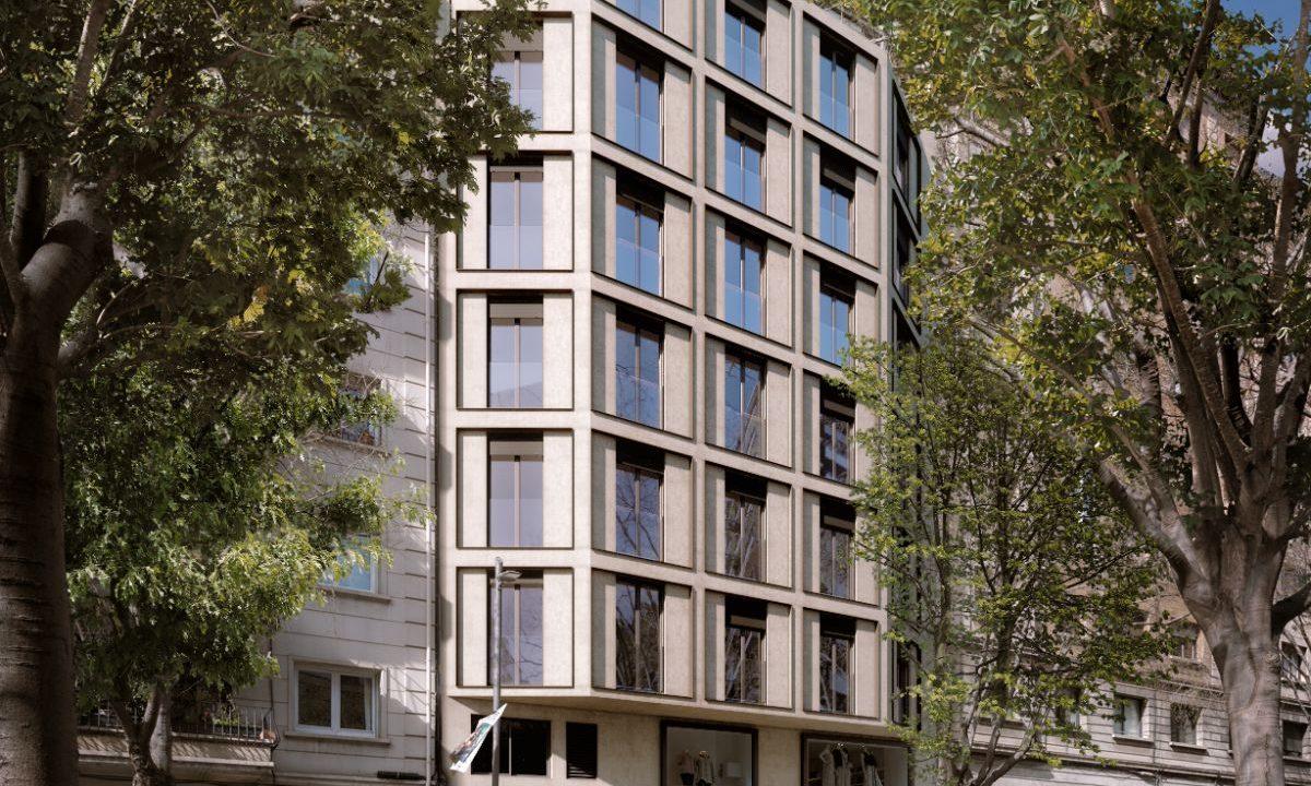 Fachada Obra Nueva Barcelona Sarria