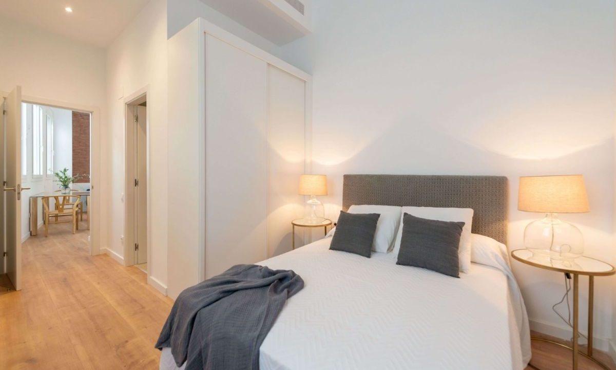 Obra Nueva Barcelona El Putxet dormitorio